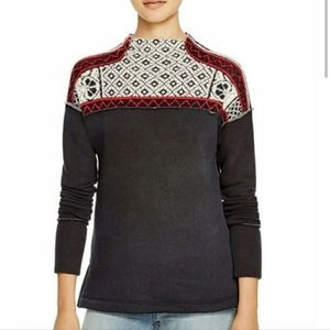 FREE PEOPLE SNOW BUNNY PULLOVER BLACK SWEATER SMAL